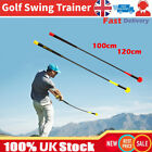 Golf Swing Trainer Sticks Warm-up Training Aids Tool Practice Rod(Red yellow)