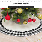 Christmas Tree Print Skirt Mat Cover Stand Red Rug Xmas Home Floor Part Decor