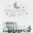 Removable 3d Dream Big Little One Wall Sticker Decal Quote Nursery Bedroom Decor