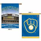 "Milwaukee Brewers County Stadium Vertical 2-Sided 28 x 40"" Flag"" on Ebay"