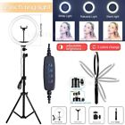 """12"""" LED Ring Light with Tripod Stand  Phone Holder Dimmable Desk Ringlight Kit"""