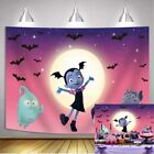 Pink Vampirina Girl Moon Bats Backdrops Halloween Theme Party Decor Background