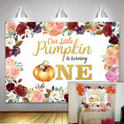 Floral Thanksgiving Day Backdrops Baby 1st Birthday Halloween Party Background