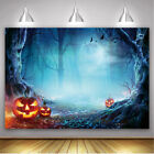 Happy Halloween Backdrop Horror Night Spooky Forest Halloween Party Background