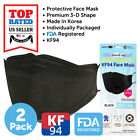 10 PCS KF94 BLACK Face Protective Mask Made in Korea FDA Registered Adult 4Layer