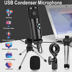 USB Condenser Microphone w/ Tripod Stand Game Chat Studio Recording for PC Phone