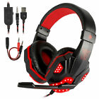 3.5mm LED Gaming Headset Mic Headphone Stereo Bass Surround for PS5/Xbox One/PC