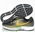 Nike 880560-009 Women's Air Zoom Pegasus 34 Running Shoes Black/Gold-Wheat