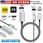 1080p hd 2 in 1 type c micro usb mhl to hdmi cable phone to tv adapter converter