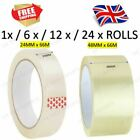 1 4 6 12 24 Rolls Fragile Clear Brown Buff Printed Packing Tape 24/48MM x 66M