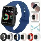 For Apple Watch iWatch Series 6 Se 5 4 3 38/40/42/44mm Silicone Sport Strap Band