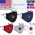Reusable Washable Cloth Face Mask W/ Air Port + Made In Usa Filters Or Pm2.5