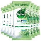 8 x Dettol Biodegradable Multi-Surface 90 Large Wipes, Total 720