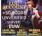 League of Legends  Account EUW LOL Smurf 40.000 - 65.000 be IP Level 30+Unranked