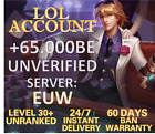 League of Legends  Account EUW LOL Smurf 50.000 - 65.000 be IP Level 30+Unranked