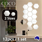 12pcs Mirror Hexagon Removable 3d Acrylic Wall Stickers Art Diy Home Decoration