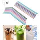 Candy Color Filter Wedding Pipette Silicone Drinking Straws Straight Bend