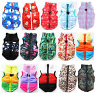 Pet Dog Zipper Jacket Pattern Traction Buckle Coat Puppy Clothes Apparel Costume