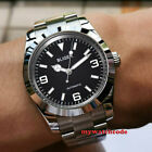 40mm BLIGER black dial sapphire glass 24 jewels japan NH35A automatic mens watch