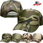 Classic Trucker Foam Front Mesh Back Snapback Adjustable Baseball Cap Camo