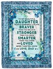 Love Baby Blanket Gift For Daughter From Dad Fleece Sherpa Blankets Christmas