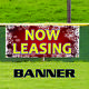 Now Leasing For Rent Office Apartment Christmas Indoor Outdoor Vinyl Banner Sign photo