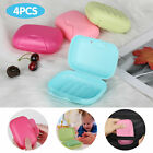 4 8x soap dish case holder container storage box bathroom travel carry camping