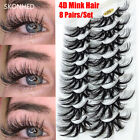 Thick Wispies Fluffy 25MM Lashes False Eyelashes 4D Mink Eye Lash Extension
