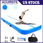 13ft Gymnastics Tumbling Mat Inflatable Tumble Track Yoga with Electric Air Pump