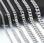 Stainless Steel Cuban Chain Fashion Necklace Jewelry - 50 Cm