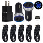 Car Wall Charger Plug Type C Cable For ZTE AXON 20 AXON 10 Pro 5G M Blade V10