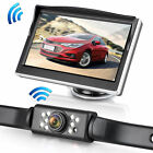"Wireless Car Backup Camera Rear View System Night Vision w/ 5"" TFT LCD Monitor"