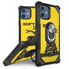 For iPhone 12 mini pro max Shockproof Removable Ring Kickstand Case Cover