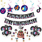 New Musical Notes Tik Tok Party Pack Balloon Cupcake Cake Topper
