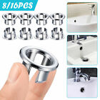 8 16pcs basin sink overflow cover bathroom hole trim ring insert replacement cap