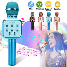 Wireless Bluetooth Microphone LED Karaoke KTV Party Handheld Mic Speaker Player
