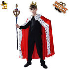 Kids Cosplay Luxury King Costumes for Performance Boys Role Play King Cape