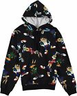 Looney Tunes Mens All Over Print Hoodie - Taz,Marvin,Bugs Bunny, Daffy...