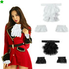 Retro Lace Jabot Cuffs Set Ruffle Collar Cuff Steampunk Costume Accessory Unisex