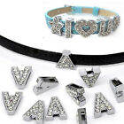8mm Wholesale Diy Slide A-z Letters Fit Pet Collar Wristband Belt Watch Keychain