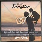 Dad to Daughter Always Here for You Daughter Keepsake Card Inseparable Necklace