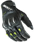 Joe Rocket Mens Hi-Viz Yellow Neon/Black Cyntek Street Style Motorcycle Gloves