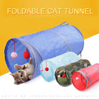 Pet Dog Puppy Rabbit Cat Kitten Folding Tunnel Game Play Toys Bell Ball Gift.