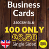 More images of Business Cards Printed Full Colour Single Sided (85mm x 55mm) 350gsm Silk - 100