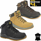Mens GRAFTERS Leather Safety Boots Steel Toe Cap Work Hiking Shoes Ankle Trainer