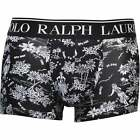 Men's Polo Ralph Lauren Midnight Luau Print Boxer Trunk, Black/white