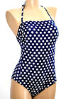 MISS CARAIBES Swimsuit 1p Size 3  4 Color Navy Spotted Lora-Cappuccino