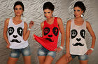 Womens Top Sleeveless T-Shirt Women's Sweater Printed Illusion Face One Size