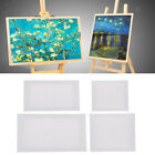 Stretched Mini Canvas for Painted Design, White Canvas Panel with Frame in