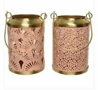 Cut Out Detail Pink Gold Colour Lantern Homeware Interior Style Home Accessories